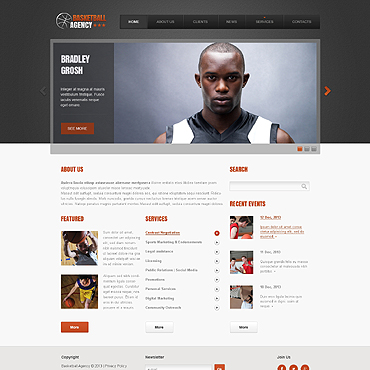 Basketball Responsive Website Template