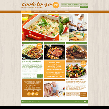 Cooking Wix Website Template
