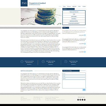 Accounting Website Wix Website Template