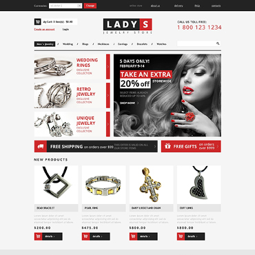 Jewelry VirtueMart Template