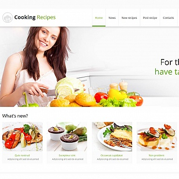 Cooking Moto CMS HTML Template