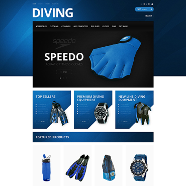 Diving Responsive PrestaShop Theme