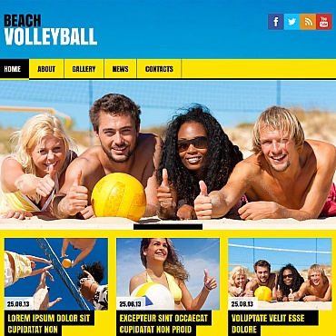 Volleyball Moto CMS HTML Template