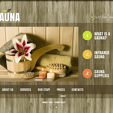 Sauna Flash CMS Template