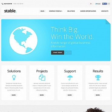 Marketing Agency Flash CMS Template