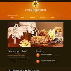 Honey Store Moto CMS HTML Template