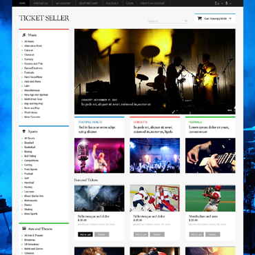 Tickets Website Responsive OpenCart Template