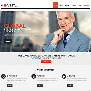Investment Company Moto CMS HTML Template