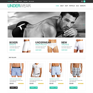 Men's Underwear Responsive Jigoshop Theme