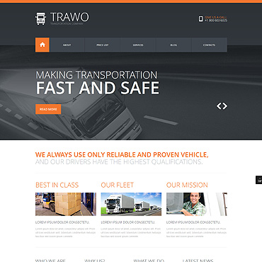 The Fastest Transportation Joomla Template #47914