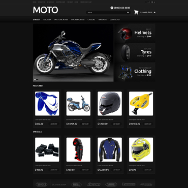 Bike Shop Responsive OpenCart Template