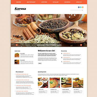 Indian Restaurant Responsive Joomla Template