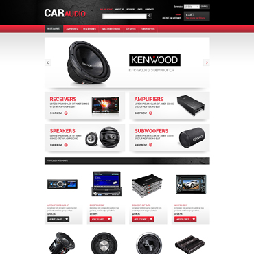 Car Audio VirtueMart Template