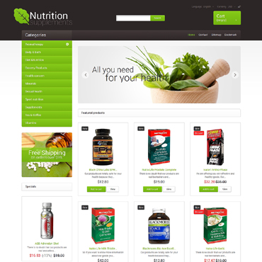 Nutrition Supplements PrestaShop Theme #48090