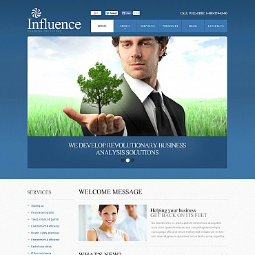 Management Company Flash CMS Template