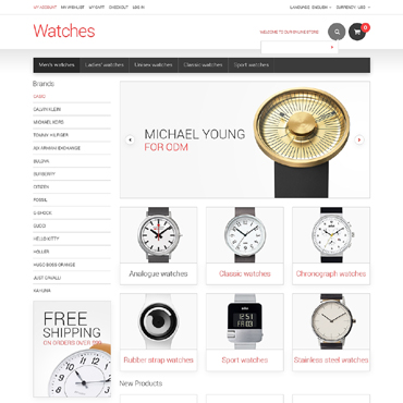 Watches Responsive Magento Theme