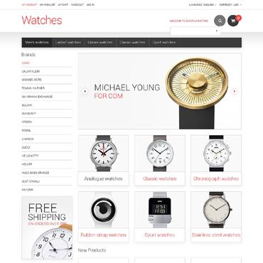 Watches Responsive Magento Theme #48334