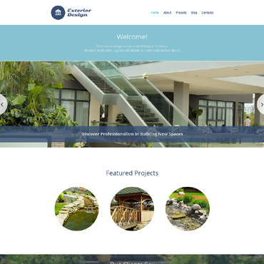 Exterior Design Responsive WordPress Theme