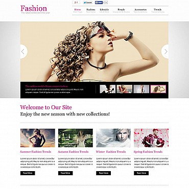 Fashion Blog Flash CMS Template