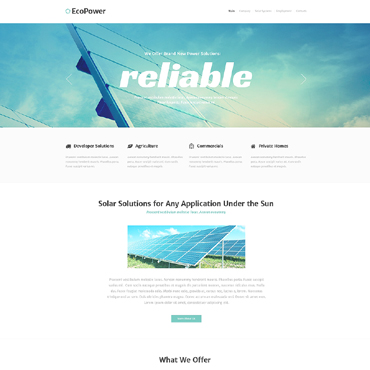 Alternative Power Responsive Website Template