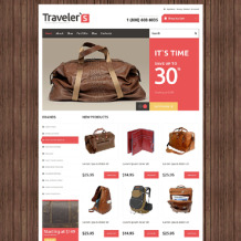 Travel Store Responsive Jigoshop Theme