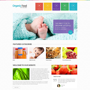 Food Store Responsive Website Template