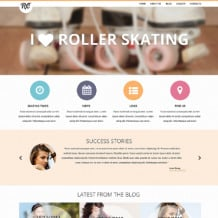 Skating Responsive Website Template