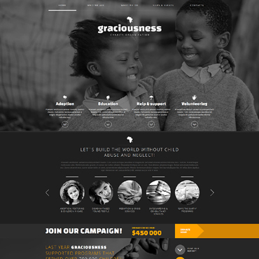 Child Charity Responsive Joomla Template