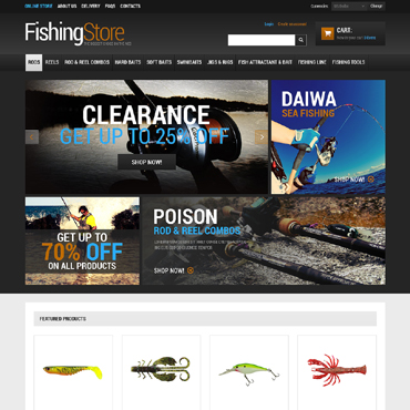 Fishing VirtueMart Template