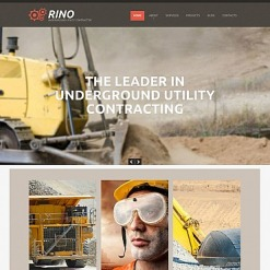 Mining Company Flash CMS Template
