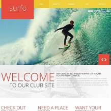 Surfing Flash CMS Template