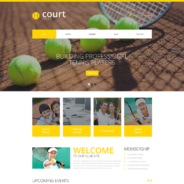 tennis website templates. Black Bedroom Furniture Sets. Home Design Ideas