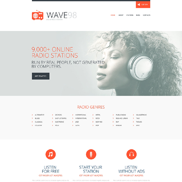Media Responsive Website Template