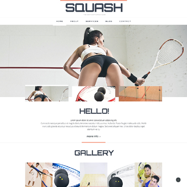 Squash Responsive Website Template