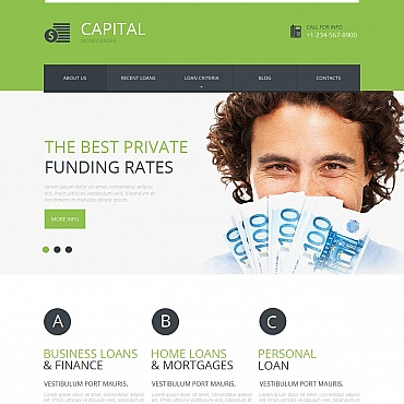 Financial Advisor Moto CMS HTML Template