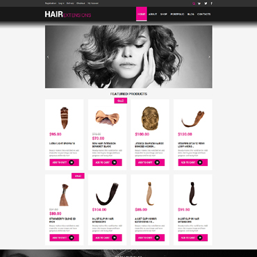 Hair Salon Responsive WooCommerce Theme