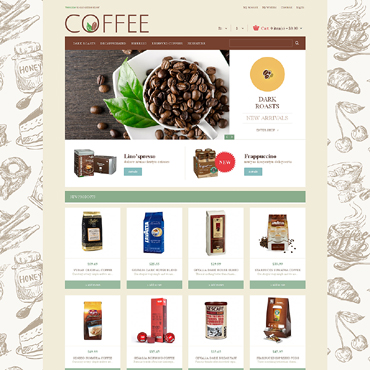Coffee Shop Responsive Magento Theme