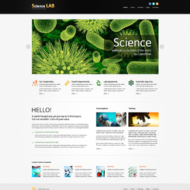Science Lab Responsive Joomla Template