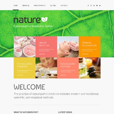Herbal Responsive Website Template