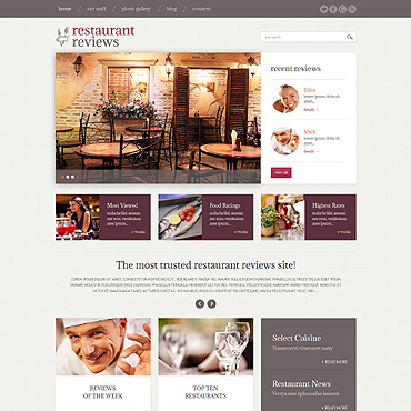 Restaurant Reviews WordPress Theme