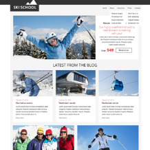 Skiing Responsive Website Template