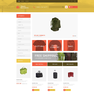 Travel Store Responsive PrestaShop Theme