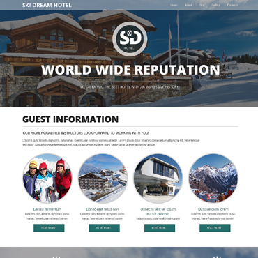 Hotels Responsive Website Template