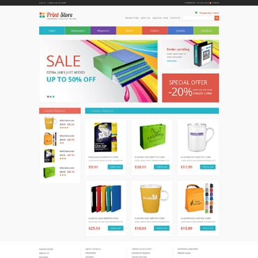Print Shop VirtueMart Template