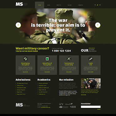 Military WordPress Theme