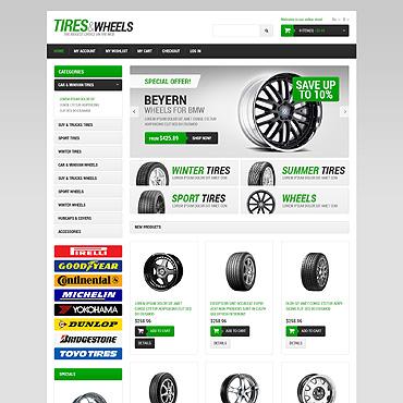 Wheels & Tires Responsive Magento Theme #49366