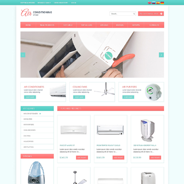 Air Conditioning OsCommerce Template