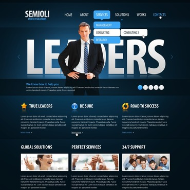 Business PSD Template #50090