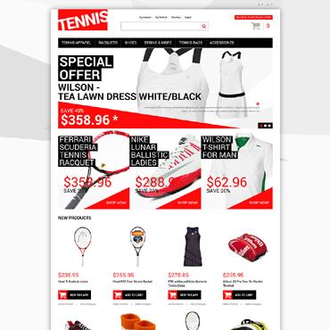 Tennis Responsive Magento Theme