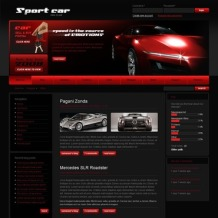 Car Club PSD Template